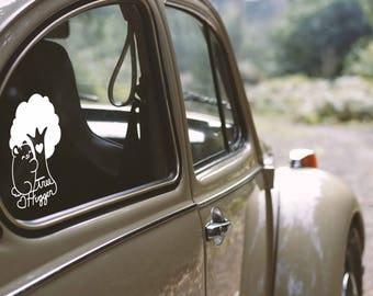 Kawaii Tree Hugger Bear Nugget Vinyl Decal