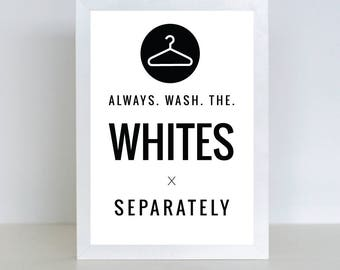 Laundry printable | Laundry room decor, | Wall decor | Printable art | Laundry guide | Black and white