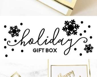 Pretty Gift Boxes DIY Holiday Gift Basket Christmas Gift Box Christmas Gift Basket Packaging (EB3171BPW) EMPTY BOX