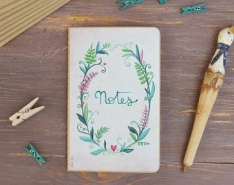 """Mini Notebook """"Notes"""" - Flowers"""