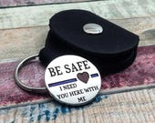 Police Officer, Be Safe Coin, Deputy Sheriff, Husband Police, Officer Gift, Challenge Coin,  law enforcement, graduation gift Thin Blue Line