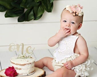 Girl Rompers Boho Romper Bohemian Clothing Baby Romper Girl Romper Boho Baby Cake Smash Romper Linen Baby Clothes Linen Romper Lace Romper