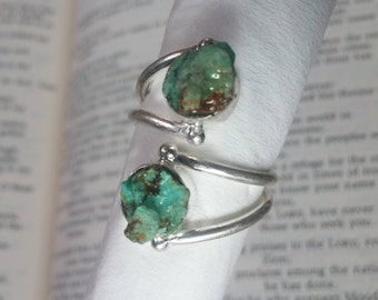 Twisted Turquoise Ring Size 5.5~Sale ~Native American Jewelry