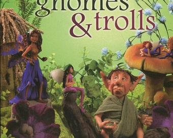 Fairies, gnomes, trolls, polymer clay sculpture, fairy garden, outdoor garden, fantasy garden, Maureen Carlson