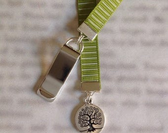 ON SALE Tree of Life bookmark / Family Tree Bookmark/ - Attach to book cover then mark the page with the ribbon. Never lose your bookmark!