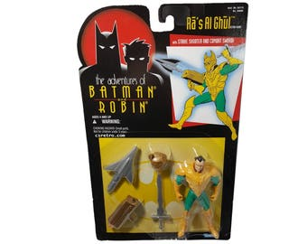 1995 the adventures of batman and robin Ra's al Ghul action figure new in package dc comics