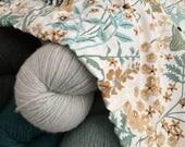 Knitting Project Bag Large Drawstring Bag Fabric Bag No Snag Drawstring Bag for Knitting Projects Crochet Project Bag Large Cotton Bag