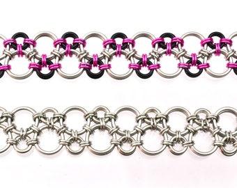 Chainmaille Kit: Hodo - Bracelet Kit - Aluminum - Intermediate - Instructions sold separately