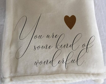 Personalized custom throw blanket for a friend or loved one.  Perfect message on a blanket!