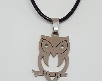 Dainty Silver Owl Necklace