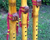 Yellow A minor Native American Style Flute