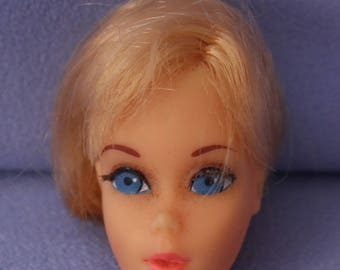 Mod Barbie Hair Fair Blonde Head, Near Mint