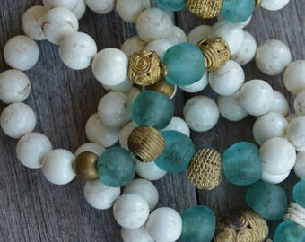 African Trade Bead Bracelets (Turquoise)