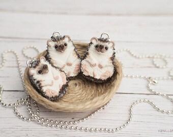 Hedgehog Cute Miniature Hedgehogs Charm Pendant Necklace