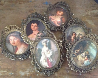 Set of 6 little metal frames