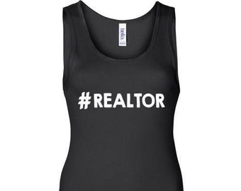 Hashtag Realtor | Black | Tank Top | Womens | #Realtor | Real Estate Shirt