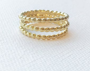 Triple Stacked Ring