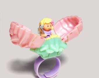 "Polly Pocket ""Secret Rose Fairy Ring"" 100% COMPLETE"