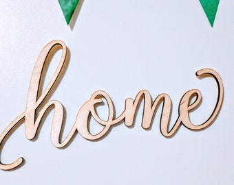 Home Laser Cut  Wood Word  Unfinished