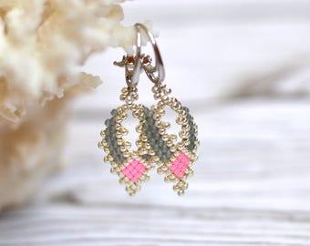 statement earrings boho earrings dangle earrings gifts-for-women best gifts-for-her romantic gifts ideas beaded earrings seed bead earrings