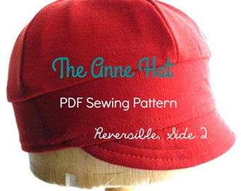 Sewing PDF Pattern - The Anne Hat ~ reversible, newsboy