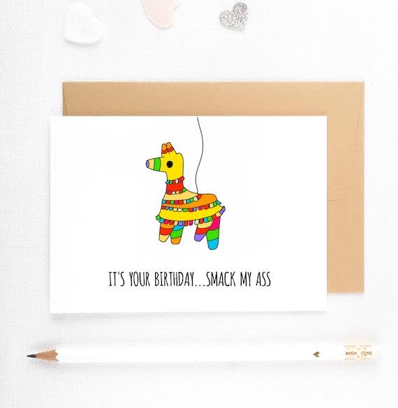 Funny Birthday Card Dirty Birthday Card Sexy Boyfriend Card – Funny Inappropriate Birthday Cards