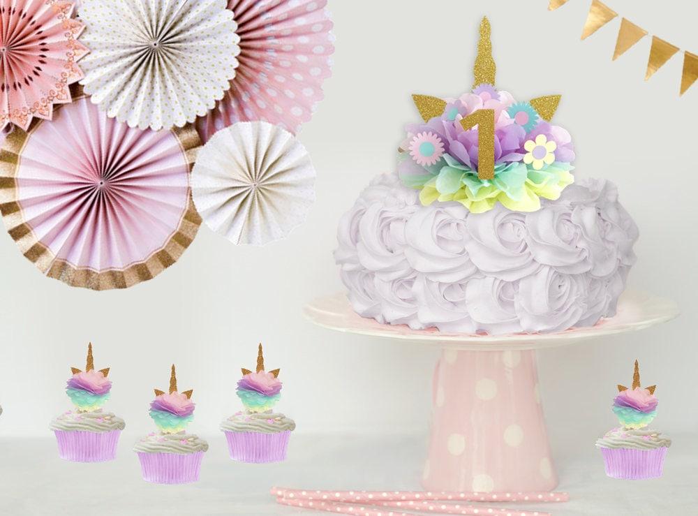 Unicorn Cake Topper Unicorn Cake Kit Unicorn Birthday