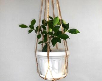Macrame Plant Hanger, 27in Natural Jute planter, Hanging plants, Hanging Planter, Macrame Plant Holder, Pot Hanger, Plant Hangers, simple