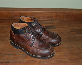 Men Size 11 1/2 Vintage Johnston and Murphy Italian Brown Ankle Boots