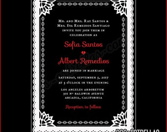 DEL RIO custom printed Wedding Invitations