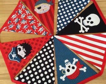 Pirate bunting etsy for Kids pirate fabric