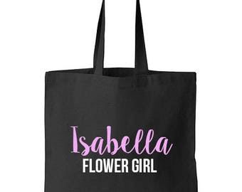 Flower Girl Tote Bag, Flower Girl Tote, Flower Girl Gift, Tote Bags, Flower Girl bag