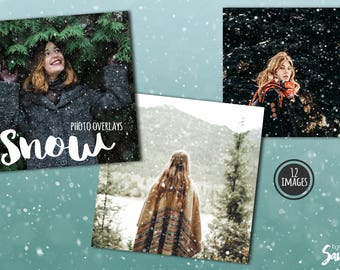 Snow overlay, digital overlays for photo art, scrapbook layouts, etc, with snow flakes effect (P05)