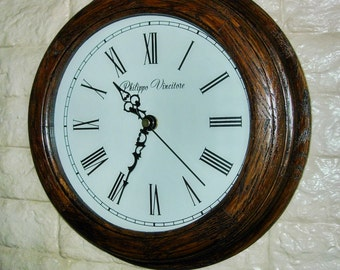 Wall clock for interior from oak