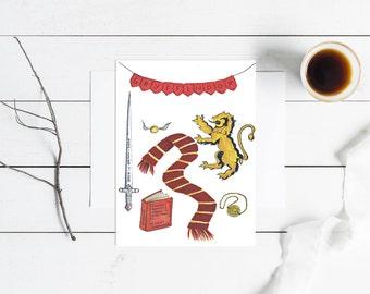 Gryffindor Aesthetic Print