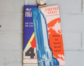 Empire State Building and Metro Highway Map iof New York and New Jersey / Vintage Publications / Great Graphics