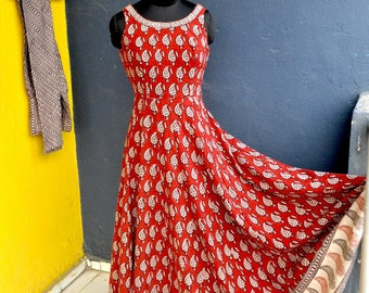 Custom made Block print dress Anarkali suit wholesale supply