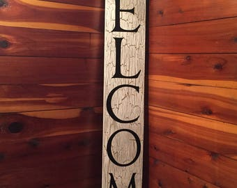 Welcome Sign - Wood signs - Custom signs - Front porch signs - Wooden signs