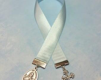 ST THERESA Bookmark or Men/Women Necklace-Religious Medal-patron saint sick people-confirmation-cancer survivor gift-Catholic-hope-encourage