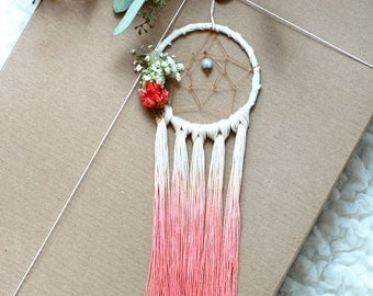 Peach Mini Dream Catcher- Rearview Mirror Dream Catcher