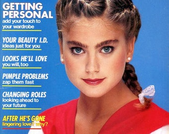 Teen Magazine  Gorgeous 18 Year Old Kathy Ireland Cover   Tom Selleck  Hall and Oates  Christy Brinkley  Dana Plato Noxzema Ad   plus more