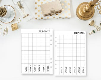 A5 Public Relations Point tracker Travelers Notebook - PR Points - Design Team - Team Calendar - Girl Boss Collection