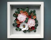 Floral Wall Art - Magnolia Art - Peony Illustration - Spring Flowers Decor - Quilling Paper Flowers - Peony Wall Art - Botanical Art