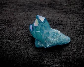 Aqua Aura Crystal Cluster, Healing Stone
