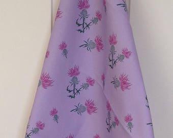 Purple thistle tea towel - purple thistle print - purple thistle kitchen towel - in 100% cotton