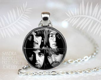 Beatles Necklace, The Beatles Jewelry, Meet the Beatles, Photo Image Jewelry, Music Icons, Beatle Earrings, Gift for Beatle Fan