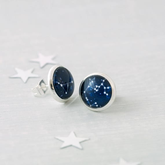 Personalised Zodiac Stud Earrings