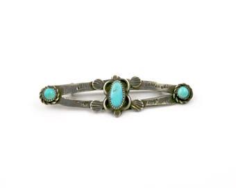 1940's Vintage Fred Harvey Era Navajo Turquoise Pin