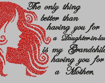 Only Thing Better Daughter-in-law Embroidery Design