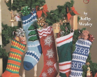Crochet Christmas Stockings Patterns 5 Designs,